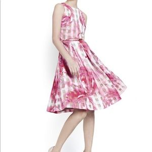 Eliza J Floral Organza Fit & Flare Dress